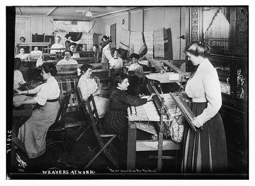 Weavers at work  (LOC)   by The Library of Congress