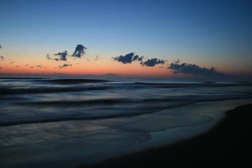 sunset sea beach sunrise outerbanks atlanticocean