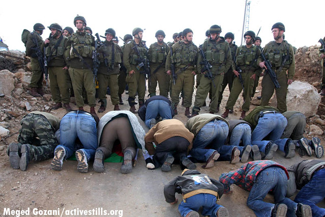 Demo against apartheid wall. Um Salamuna, Palestine, 07/12/2007