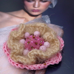 Layered crochet brooch | by MarianneS