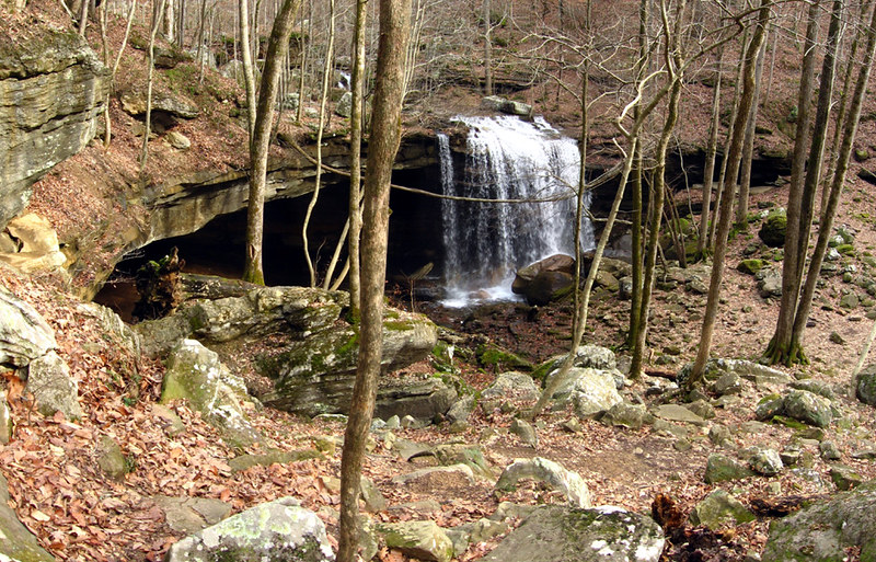 Big Laurel Falls, Big Laurel Creek Cave, Virgin Falls, White Co, TN