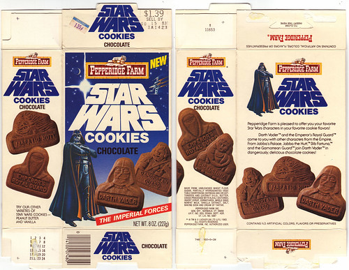"Star Wars Pepperidge Farm ""The Imperial Forces"" Chocolate cookies box - No Tumbler Offer - 1983 