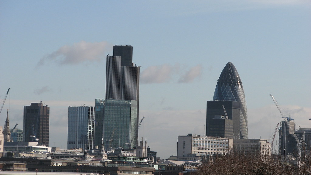 City Of London View From Waterloo Bridge In The Right 3