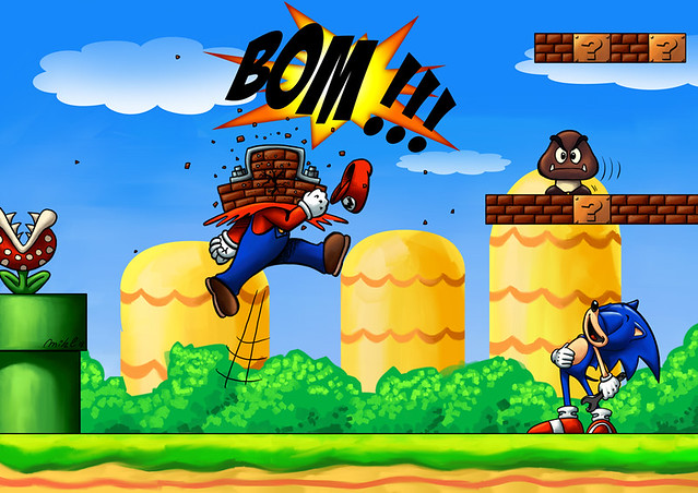 Sonic Vs Super Mario