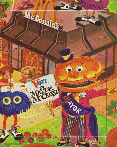 McDonalds McDonaldland mini-puzzle - Mayor McCheese - 1973   by JasonLiebig