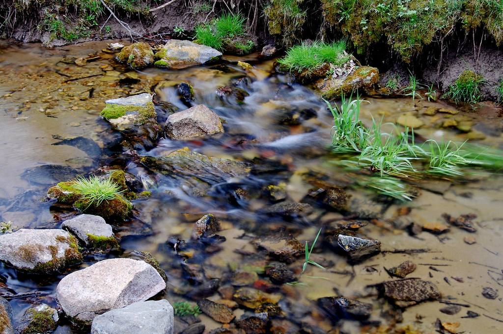 Slow Shot of a Fast Creek by nataraj_hauser / eyeDance