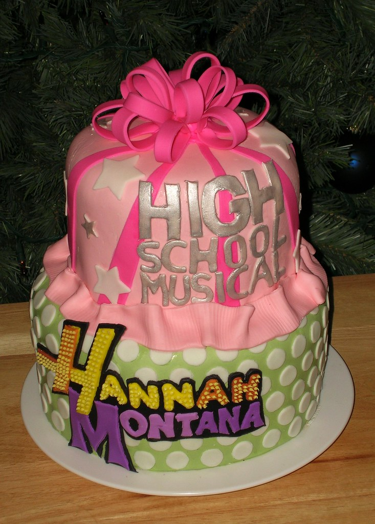 Cool Hannah Montana High School Musical Cake This Little Girl W Flickr Birthday Cards Printable Inklcafe Filternl