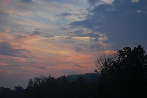 sunset sky clouds sunrise