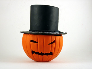 Pumpkin with Top Hat | by CraftyGoat