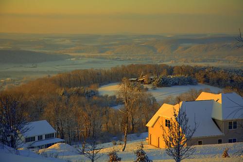 winter snow sunrise landscape whisper cows pennsylvania hills danville valley northeast susquehanna mananddog centralpennsylvania susquehannavalley sanjaymittal
