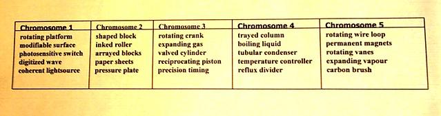 Grammatical Genetic Innovation Starting Chromosome Set