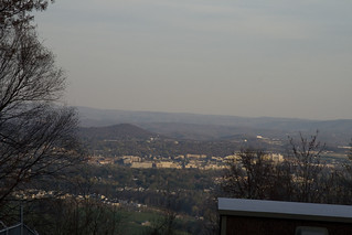 View Down Into Blacksburg From Horse Nettle | by @HandstandSam