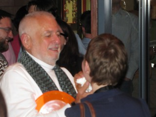 Richard Saul Wurman cleaning Abby's cake face | by ValeskaUX
