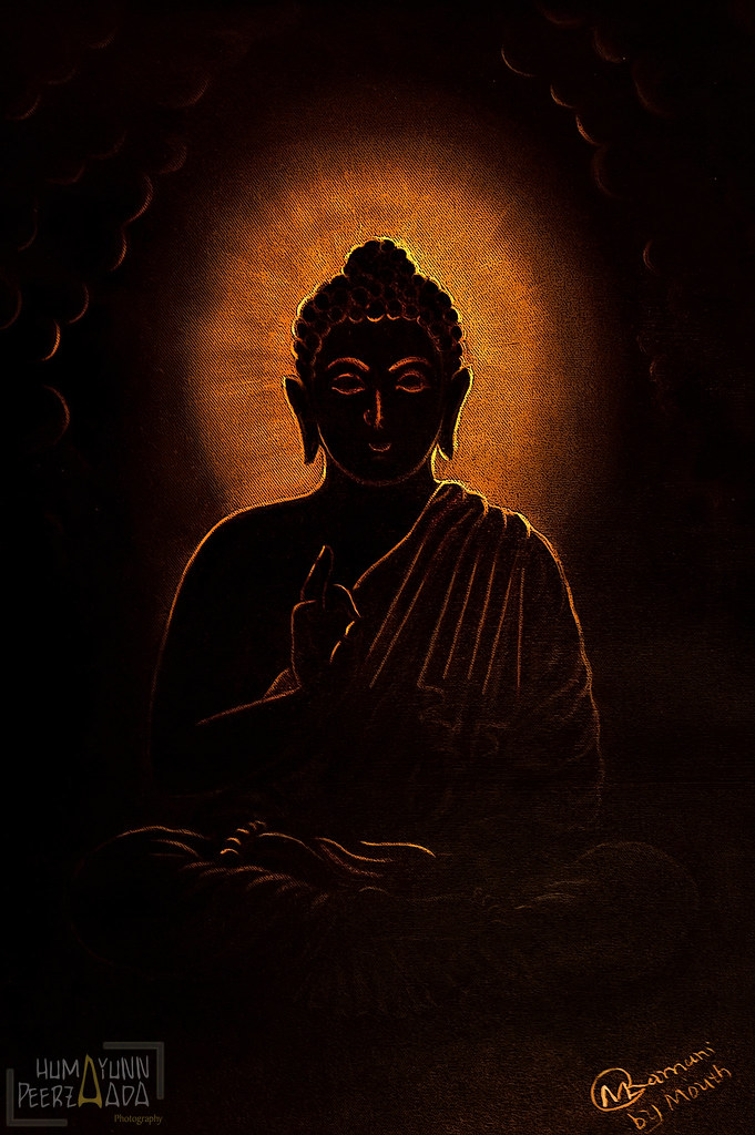 Lord Buddha S Painting By Painter Manjibhai L Ramani By H Flickr