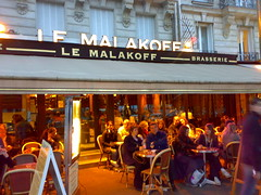 Le Malakoff restaurant in Paris Tocadero