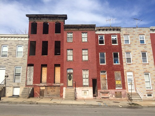 Vacant rowhouses, 1610-1616 E. Chase Street, Baltimore, MD 21213 | by Baltimore Heritage
