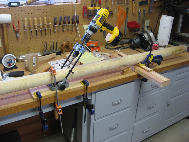 Angle jig   Setting up a hole drilling jig to get the right