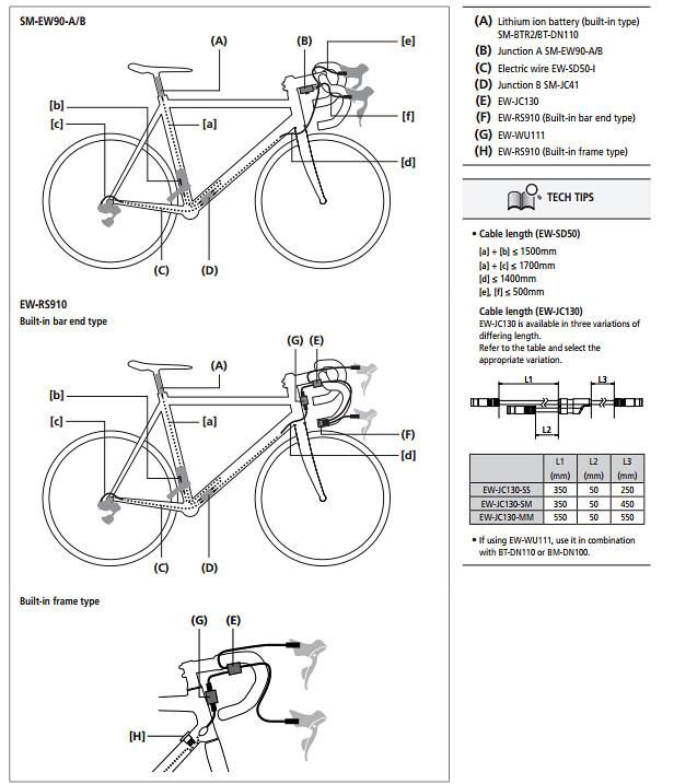 Shimano Di2 R9150 Wiring Diagram