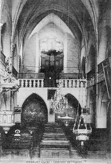 Intérieur de l'église d'Orgelet