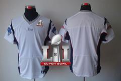 Nike Patriots Blank White Super Bowl LI 51 Men's Stitched NFL Elite Jersey