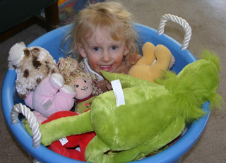 Kaitlyn with toys | by Elizabeth/Table4Five