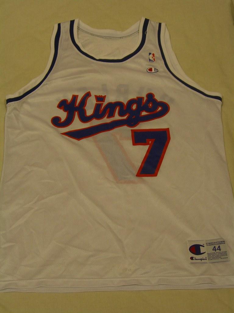 0903ee3f5cec ... 1993-94 Bobby Hurley Sacramento Kings replica Champion Jersey sz 44