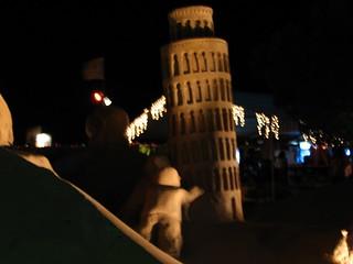The Leaning Tower of Pisa - Sand Sculptures - FIESA 2007 - Wonders of the World (Maravilhas Do Mundo) - The International Sand Sculpture Festival (Festival Internacional de Escultura em Areia)  - Pera, The Algarve, Portugal