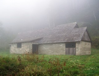 Lost in the fog - a hidden WWII radar station, disguised as a farm house, along the Pacific coast - radar13 | by mlhradio