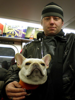 two subway passengers