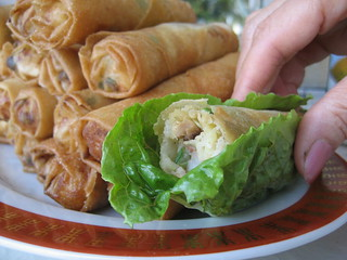 Crispy Spring Rolls Wrapped in Lettuce | by Sunday Nite Dinner