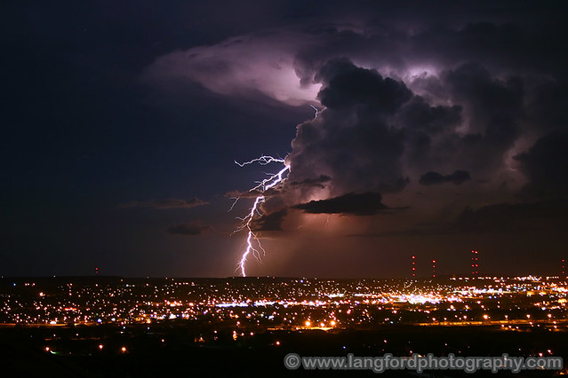 Lightning over Great Falls