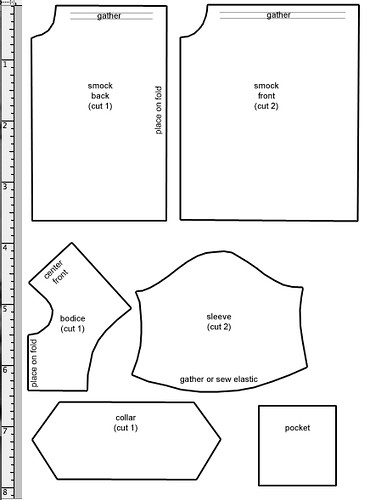 picture about Pocket Pattern Printable known as Smock Behavior Printable PDF: /models/p