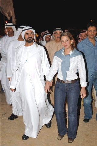 Sheikh Mohammed Al Maktoum and his wife princess Haya of J
