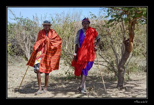 Maasai watching the party...