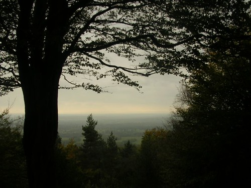 View from Leith Hill No sign of Sevenoaks. Holmwood to Gomshall