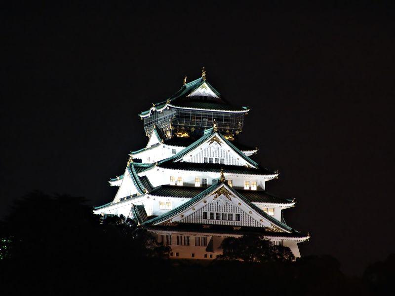 大阪 Osaka Castle by night