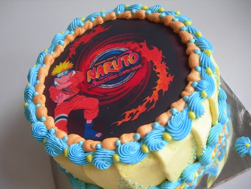 Fabulous Simple Naruto Birthday Cake The Cake Is 18Cm Ipoet Mama Funny Birthday Cards Online Inifodamsfinfo