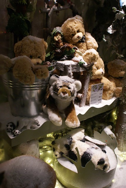 Soft Toys for sale in a Shop Window Lausanne