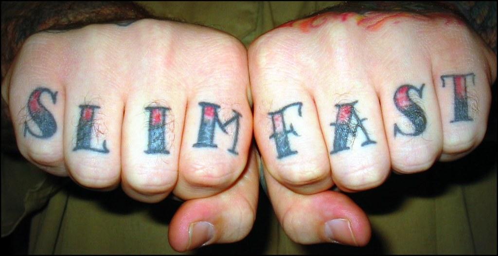 Knuckle Tattoos -