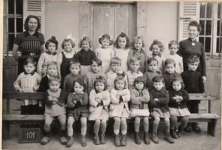École maternelle d'Orgelet en 1944