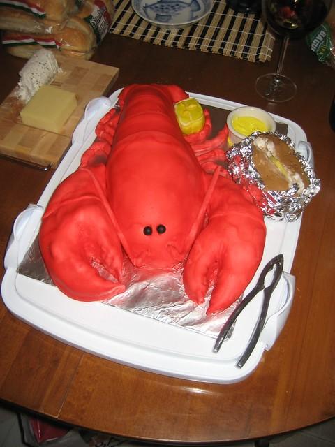 Anthony's Lobster Birthday Cake