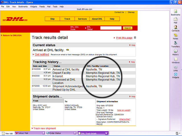 What the !#@&? dhl tracking status | I ordered a computer mo