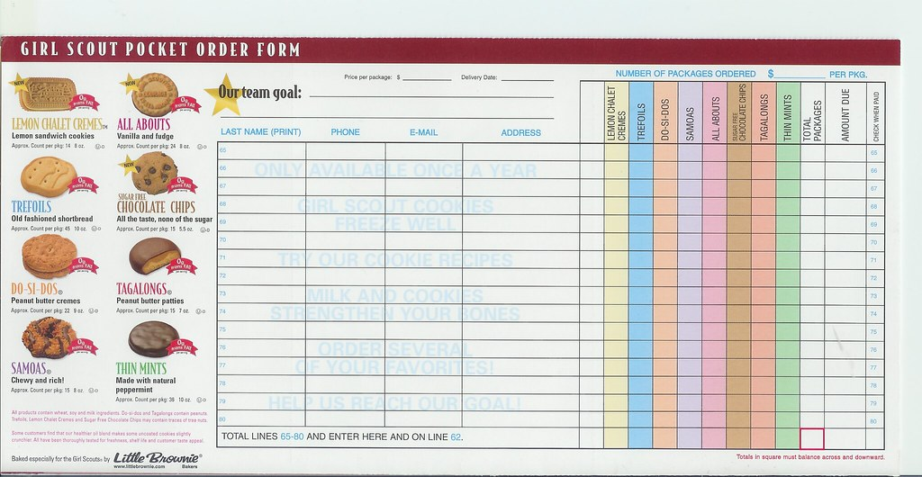 It's just an image of Wild Girl Scout Cookie Order Form Printable 2020
