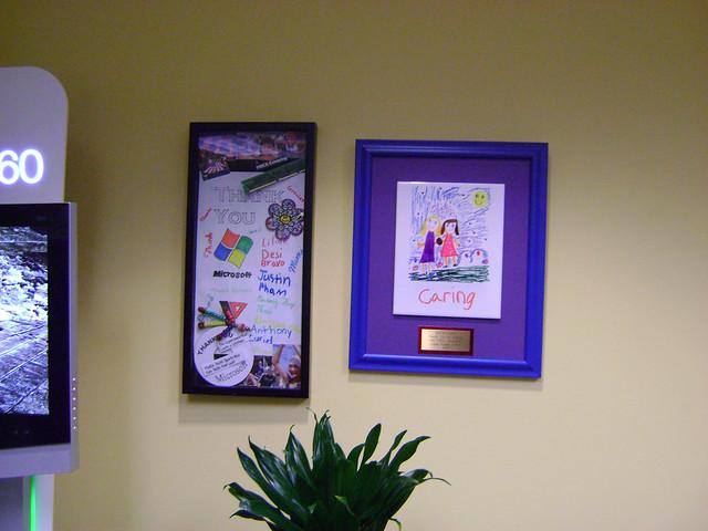 YMCA Thanks in Microsoft Lobby