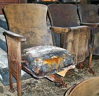 Abandoned Pennsylvania: Theater Seating at The Scranton Lace Factory | by Cheri Sundra: Guerrilla Historian