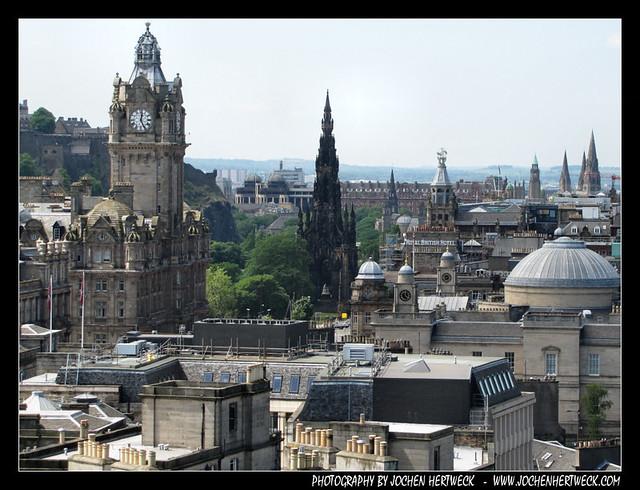 View from Carlton Hill, Edinburgh, Scotland, UK