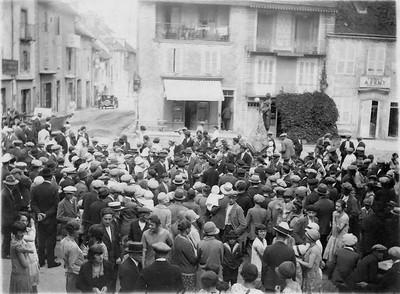 Fête patronale à Orgelet en 1928