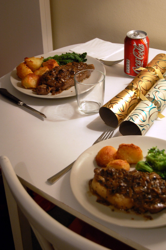 Christmas Dinner In A Tin.Christmas Dinner Table With My Brother S Coke And Christm