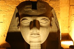 Head of Ramses II in front of Luxor Temple, Egypt | by ninahale