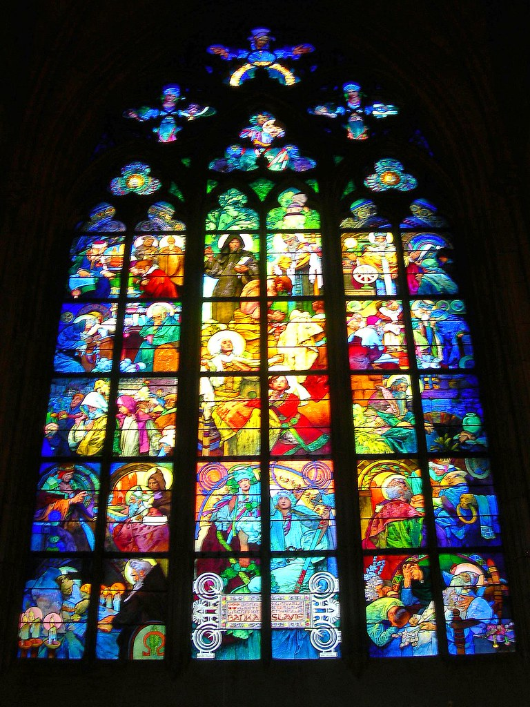 Vitraux By Alphonse Mucha In Prague In St Vitus Cathedral Flickr